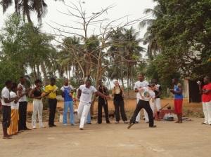 Roda de capoeira Lomé-Togo février 2013