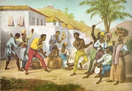 Jogar Capoeira par Johann Moritz Rugendas 1835